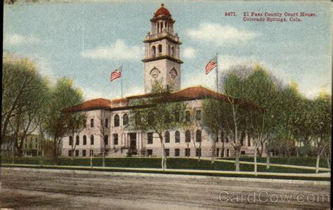 El Paso County Civil Search El Paso County Court House Colorado Springs Co