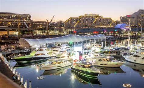 riva boats sydney riviera aglow at the sydney international boat show