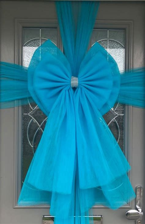 how to make a door bow for christmas turquoise door deluxe bow decoration kit door bows