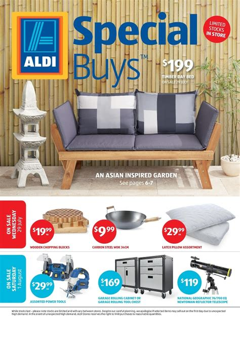 Wooden Outdoor Daybed Furniture - aldi special buys week 31 home sale 2015