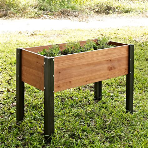 elevated raised bed coral coast bloomfield wood elevated garden bed 40l x