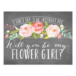 Will You Be My Bridesmaid Cards Zazzle Will You Be My Flower Template