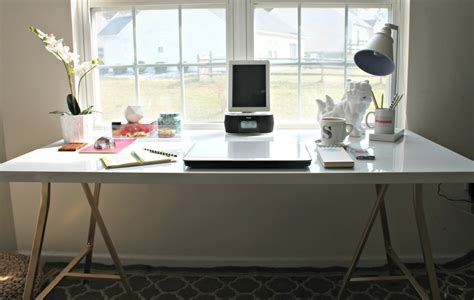 ikea desk hack from generic office to stylish and productive home office