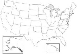 blank map of the united states labeled