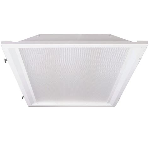 Retrofit Lighting Fixtures Eco Lighting By Dsi 2 Ft X 2 Ft White Retrofit Recessed Troffer With Led Lighting Kit For