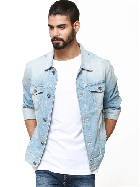 Mens Light Wash Denim Jacket by Buy Denim Jackets Jacket To