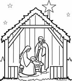 coloring page nativity scene images
