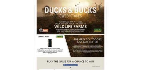 Ducks Unlimited Sweepstakes - ducks bucks sweepstakes win a ducks and bucks hunt valued at over 15 000