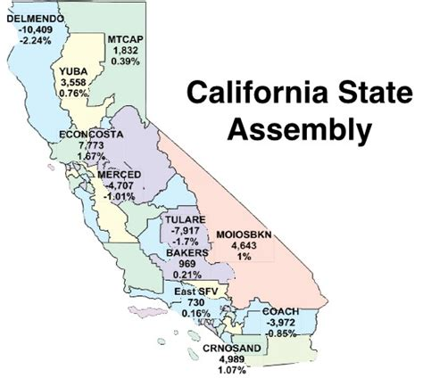 california assembly district map california redistricting maps before and after l a weekly