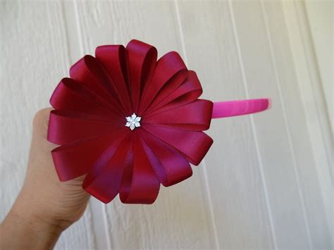 how to make flower how to make ribbon flower in 5 minutes youtube