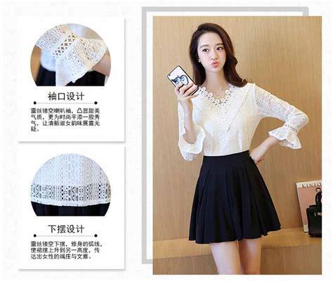 Blouse Brukat Putih Import blouse putih brokat lengan panjang model terbaru jual murah import kerja