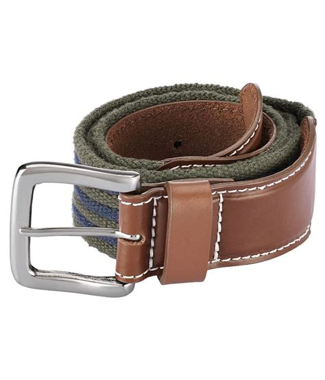 parx brown canvas casual belt for buy at low