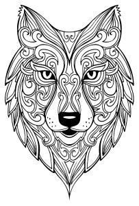 Animals  Coloring Pages For Adults Page 2 sketch template