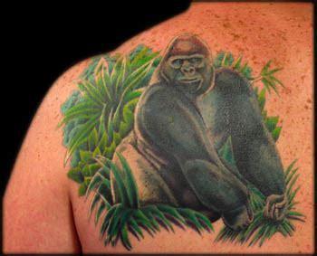 tattoo of us gorilla silverback gorilla by aaron goolsby tattoonow
