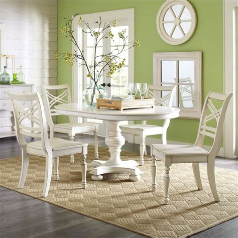 White Dining Table Sets Riverside Furniture Placid Cove 5 Pc Table Honeysuckle White Dining Set Ebay