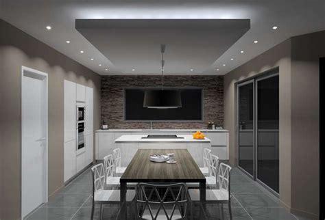 spot dans cuisine eclairage faux plafond cuisine faux plafond luminaire