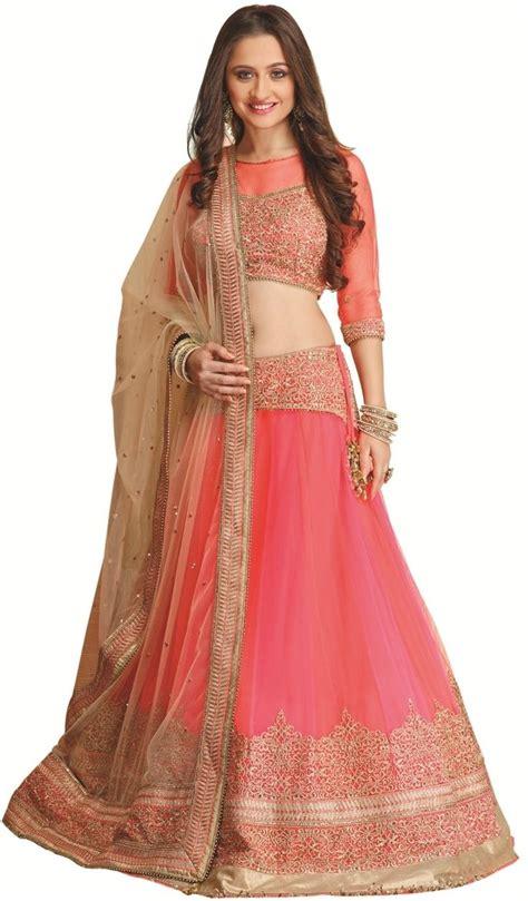 Self Design Wedding Dresses by Meena Bazaar Self Design S Lehenga Choli Buy Neon