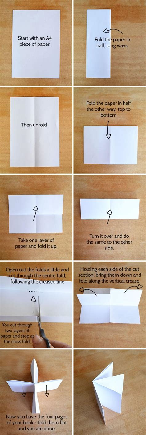 How Do You Make A Paper Book - how to make a book with a single of paper kidspot