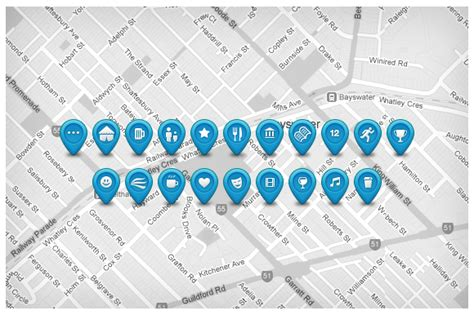 custom vector map pins and icons graphics on creative market