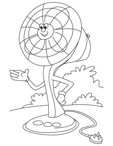 free coloring pages of fan