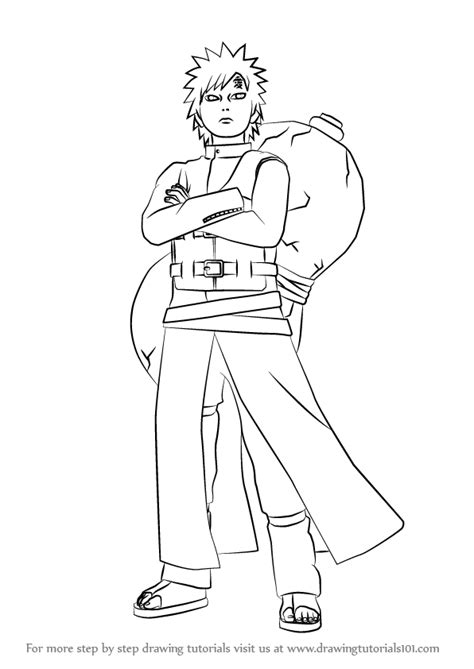 Tempat Pensil Pencil Anime Shippuden Uzumaki learn how to draw gaara from step by step