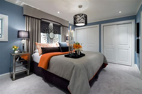 jane lockhart bluegrayorange bedroom contemporary bedroom toronto  jane lockhart