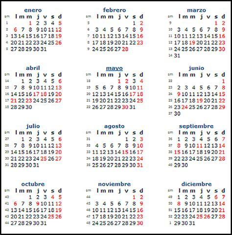 calendario 2014 festivos imagui