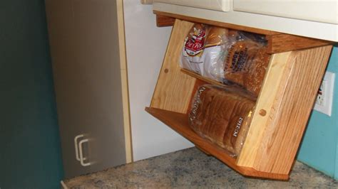 Under Cabinet Mounted Bread Box Drawer Drops Down For By