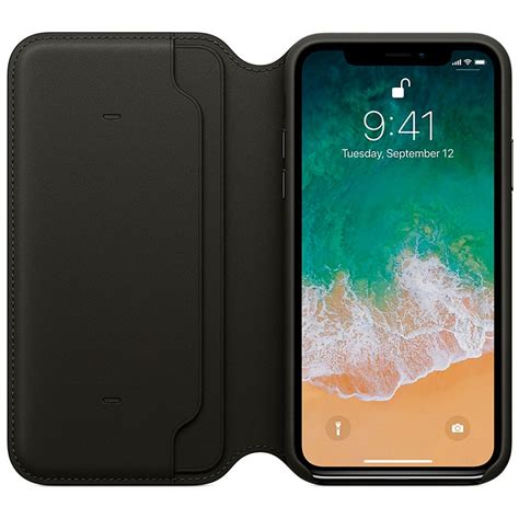 Apple Original Iphone X Leather Folio Casing Black Bnib iphone x apple leather folio mqrv2zm a black