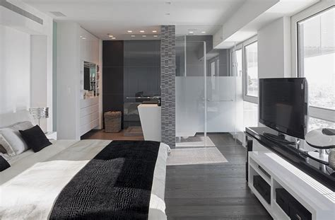 modern gray bedroom modern white and gray apartment interior design by