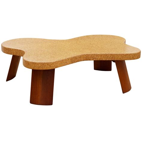 cork coffee table paul frankl cork top coffee table at