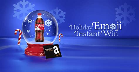 Is Amazon Giving Away 1000 Gift Cards - coca cola hmshost holiday emoji instant win game cokeplaytowin com hmshostholiday