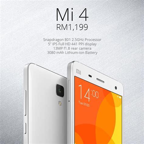 Handphone Xiaomi Mi4 Di Malaysia xiaomi mi4 ditawarkan di malaysia pada harga rm1199 dijual melalui pengedar amanz