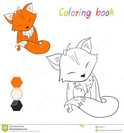 coloring book illustrator coloring book fox layout for stock vector