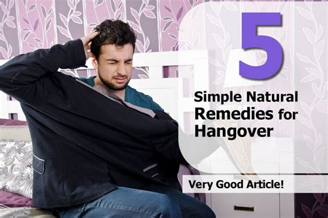 5 simple remedies for hangover