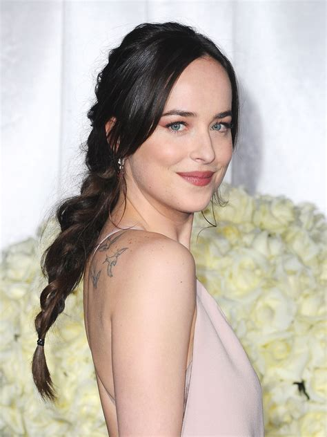 dakota johnson s long dark hair is our favorite look yet