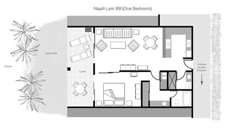 What To Put In A Guest Bedroom - maui rentals and condos luxury condominiums on napili bay maui hawaii napili lani floor plans