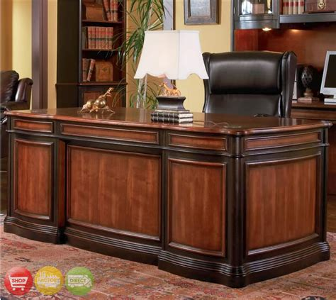 3 piece executive desk bookcase file cabinet two tone