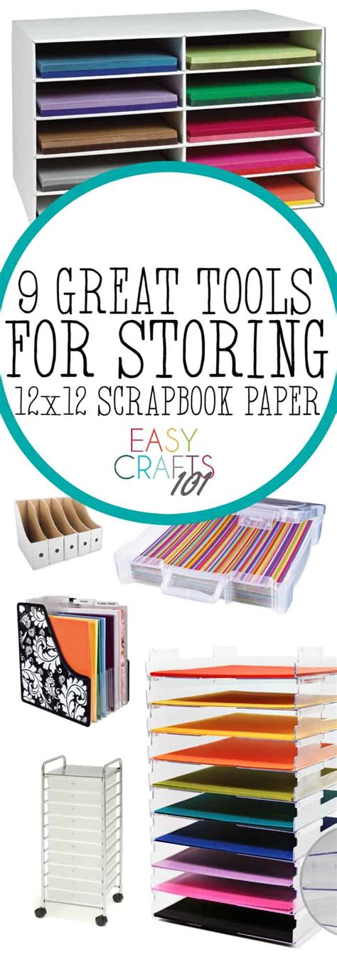 how to store craft paper 9 ways to store 12x12 scrapbook paper easy crafts 101