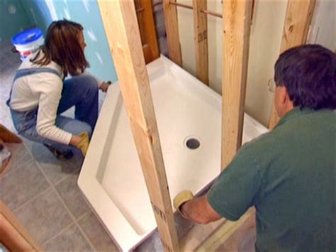 Shower Pan Plumbing by How To Install A Shower Pan