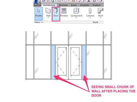curtain wall dimensions how to show demolition door in an existing curtain wall