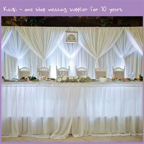 draping wedding white cheap wedding voile backdrop draping fabric kaiqi