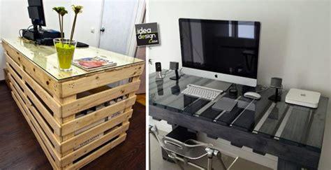 costruire scrivania fai da te scrivania fai da te con pallet 20 idee creative da scoprire