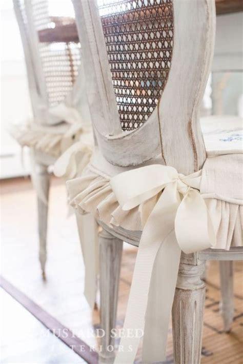 slipcover tutorial  ties  ruffled skirt