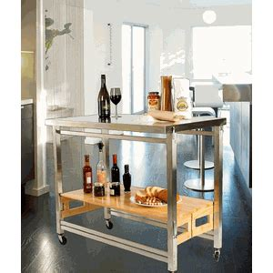 x large folding island stainless steel and wood modern stainless steel top x large flip fold kitchen island