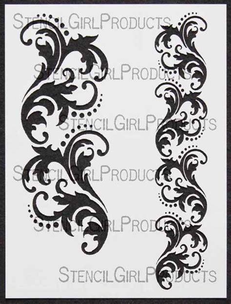 Letter Home Decor Borders Damask Stencil Michelle Ward Stencilgirl Products