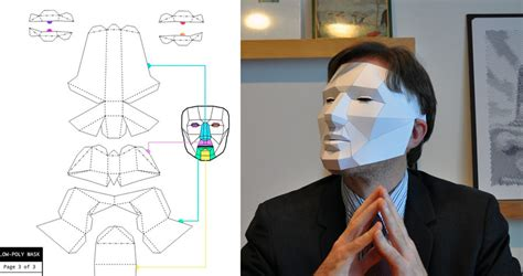 Papercraft Mask - low poly mask a papercraft mask for boing boing