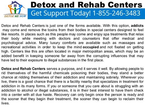 Detox Facilities by Detox And Rehab Centers