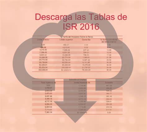 tabla de isr quincenal 2016 descargar tablas isr 2016 calculo mensual anual quincenal