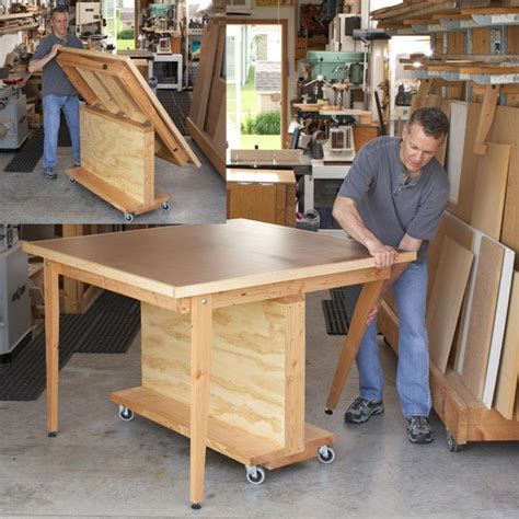firewood saw bench plans fold flat 3 in 1 workbench woodworking plan workshop